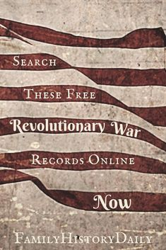 These free genealogy research sites feature Revolutionary War records from pensions to bounty warrants. Learn more about your ancestry and expand your family tree with free genealogy records. #freegenealogy