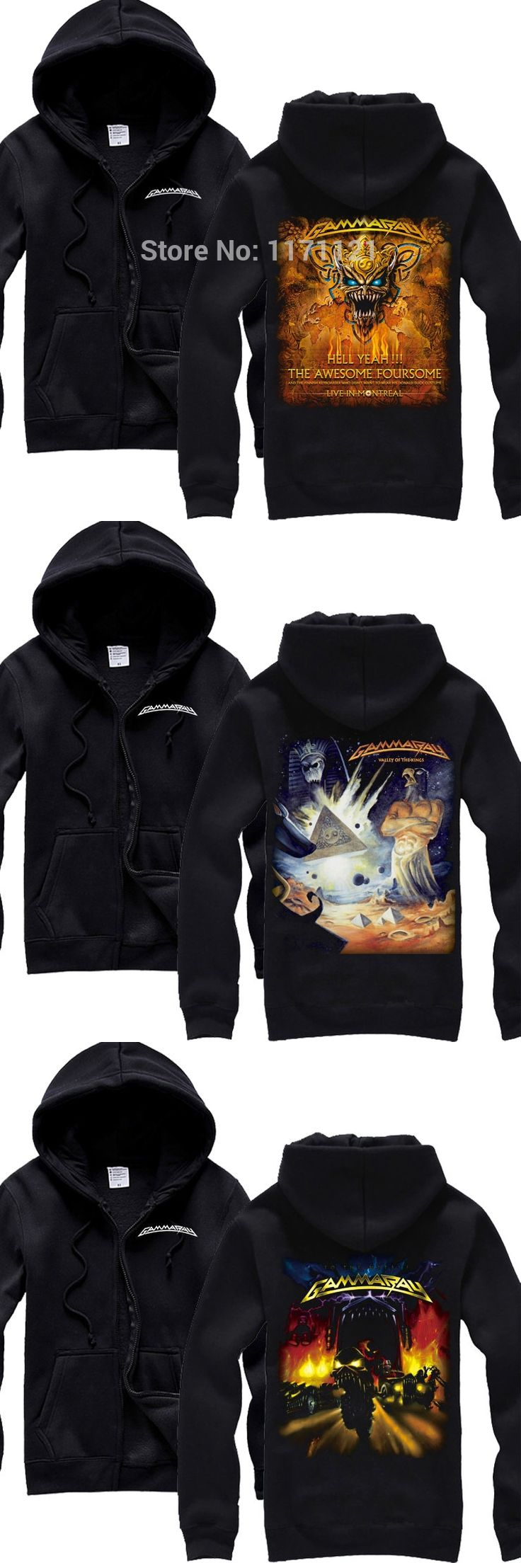GAMMA RAY Hell yeah  The awesome foursome Nucle Heavy Metal Power Metal new Hoodie