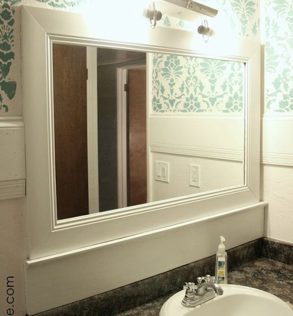 Frame Your Bathroom Mirror: Frame Your Bathroom Mirror