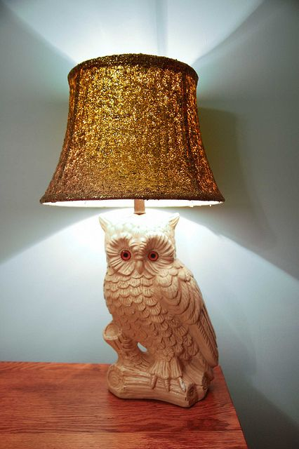 DIY Glitter Lamp Shade by Stacie Stacie Stacie, via Flickr