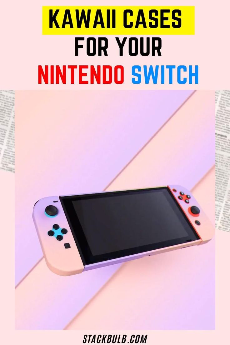 Kawaii nintendo switch pastel cases for console gamers