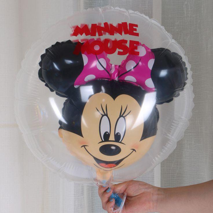 Новые симпатичные Микки Минни прозрачный воздушные шары Микки Маус 5 шт. мяч в мяч Алюминиевая пленка шар День Рождения украшения купить на AliExpress