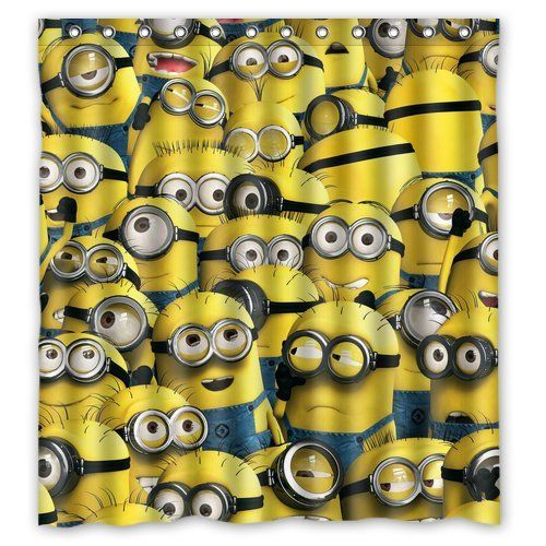 39 Best Cute Minion Shower Curtain Designs Images On Pinterest
