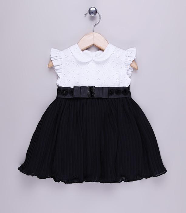 Vestido festa preto e branco