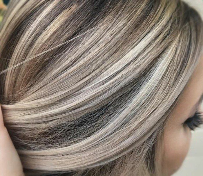 Haarfarbe blond grau