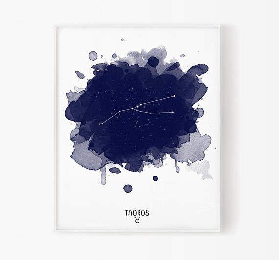 Taurus zodiac april zodiac kan dierenriem taurus print star