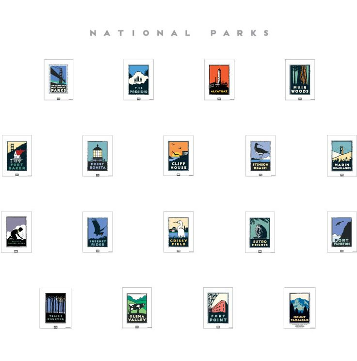 Art Poster Store for America's Cup Amtrak Sports Music National Parks | Michael Schwab Studio