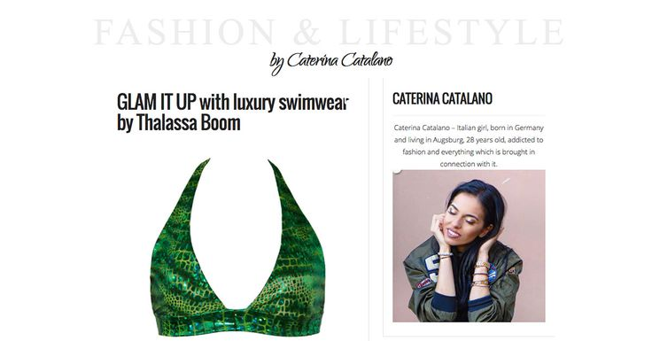 GLAM IT UP with luxury swimwear by Thalassa Boom