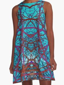Neurons A-Line Dress by Scar Design #summerclothing #summervacationsdress #beachdress #beach #summerfashion #giftsforher #gifts #giftsforteens #summergifts #womensfashion #hipster #colorful #style #swag #sunset #sunsetdress #dress #summerdress #summer2016 #buydress #Alinedress #buydresses