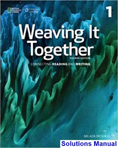 Best 50 solution manual download images on pinterest solutions manual for weaving it together 1 4th edition by broukal ibsn 9781305251649 fandeluxe Gallery
