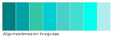 tonos color turquesa