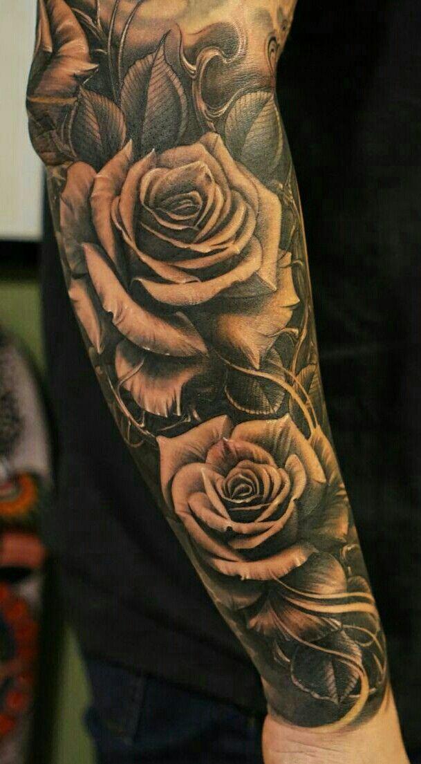 Pin By Cesar Arambula On Dia De Los Muertos Rose Tattoos For Men Tattoo Sleeve Designs Men Flower Tattoo