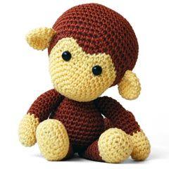 Next project - so cute!  Johnny the Monkey amigurumi crochet pattern by Pepika