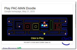 Bermain pacman secara online dengan google