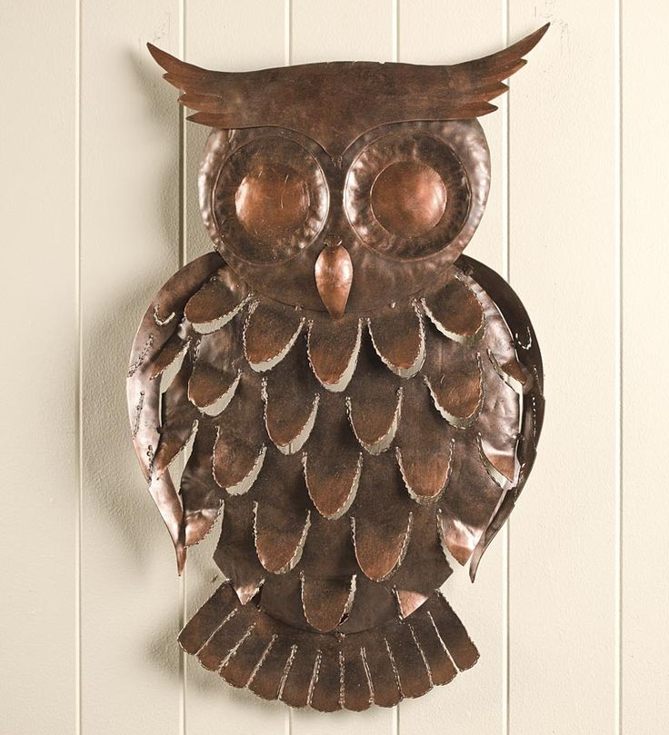 Owl Stuff For The Home Part - 27: Handcrafted Recycled Metal Owl Wall Art