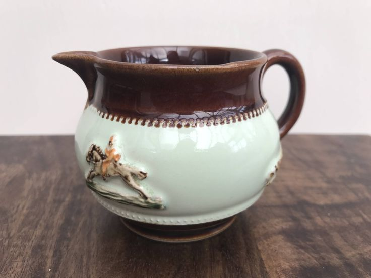 A personal favourite from my Etsy shop https://www.etsy.com/uk/listing/574624209/denby-1940s-creamer-small-jug-tally-ho
