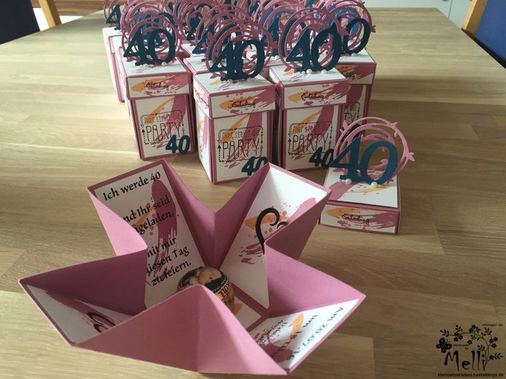 Stampin Up, Explosionsbox, Geburtstag, Einladung, Mellis Stempelparadies (8)