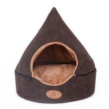 Deux utilisation chat chien pet lit maison Doux de luxe petit chien chiot canapé Lit chenil nid intérieur hiver chaud polaire chien maison coussin tapis(China (Mainland))