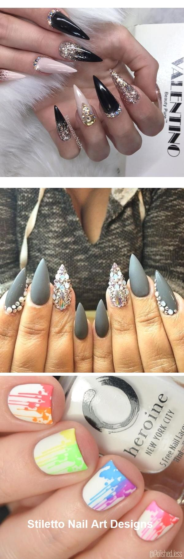30 Ideen für großartige Stiletto-Nageldesigns #stiletto – Nägel