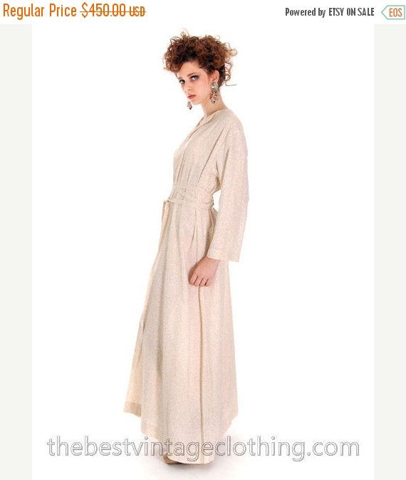 One Sale Thru Feb 14 Marimekko Vintage Printed Dress / 1960s Designer Cotton Maxi Dress / Vuokko Nurmesniemi Cream Dress Wedding