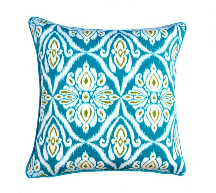 Jaipur Peacock - Indoor / Outdoor cushion from Julie Alves Designs