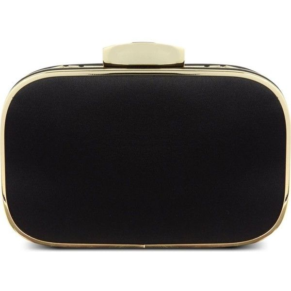 CARVELA Better satin clutch bag (1 260 UAH) ❤ liked on Polyvore featuring bags, handbags, clutches, black, satin clutches, satin purse, chain strap handbags, chain strap purse and satin handbags
