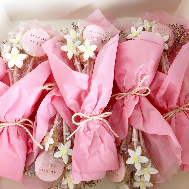 Well packaged and very cute. Great way to package a custom cookie bouquet.