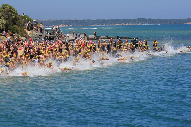 The annual Channel Challenge from San Remo to Phillip Island and return run over the bridge