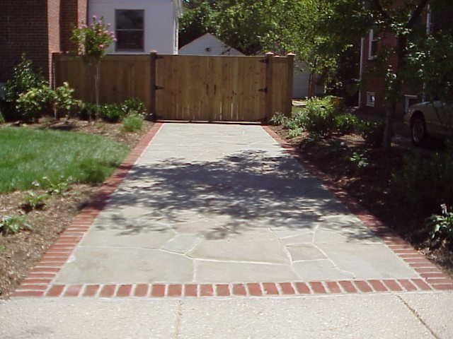 Flagstone With Brick Border Google Search Front Yard