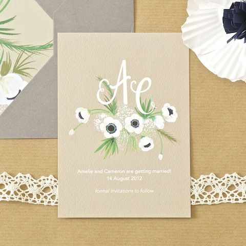 Monogram Save the Date at BerinMade.