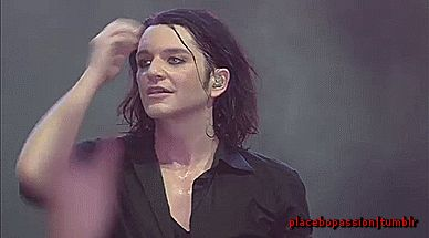 Brian Molko,Placebo Live In Bercy,Paris 10.12.2013 *(gif)