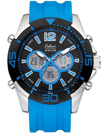 COLORI Sport AnaDigi Blue Silicone Strap Τιμή: 78€ http://www.oroloi.gr/product_info.php?products_id=34894