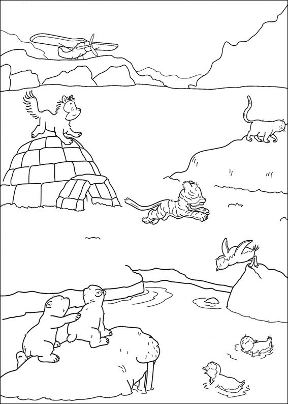 Arctic Scene Coloring Page