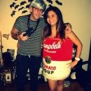 Original Andy Warhol and Campbell's Soup Can Couples Costume