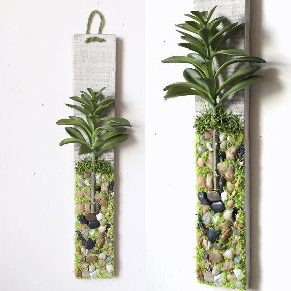 Plant  Wall  Hanging Artificial  Succulent Moss Wall  Art