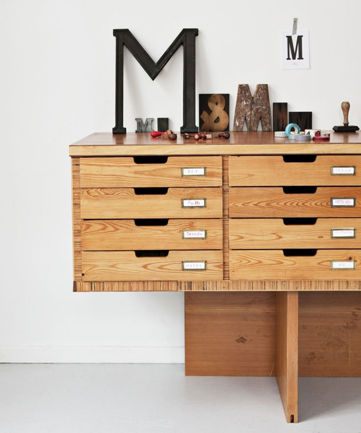 Art drawers / Genbyg design