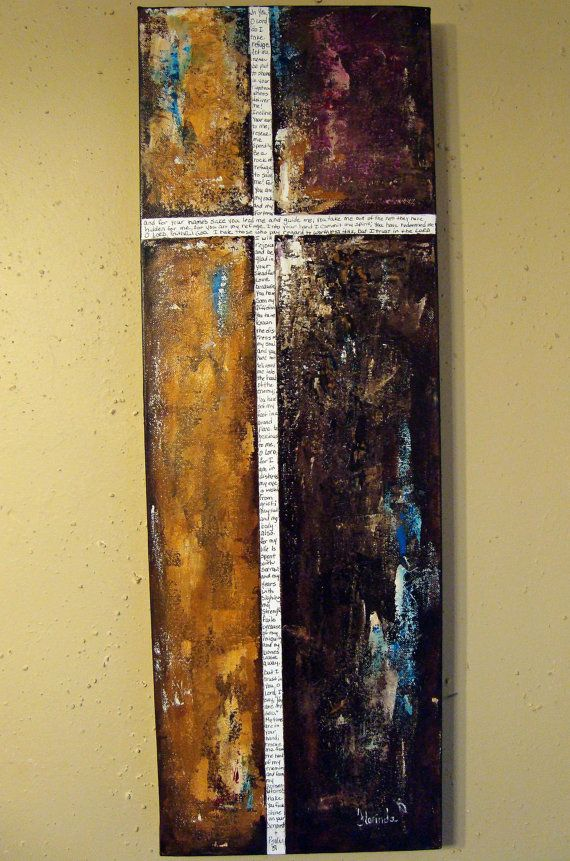 Scripture Art Psalm 31 Original Angel Painting by Florinda on Etsy, $70.00