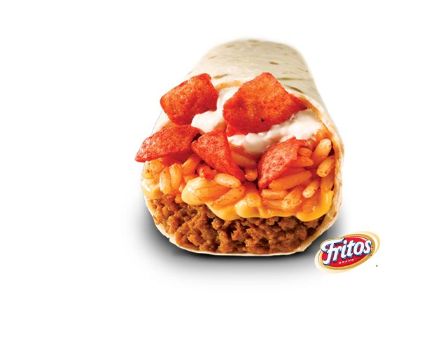 Taco Bell and Fritos Beefy Crunch Burrito: The Bell is very agressive about brand blended products, this neon orange and brown mess is recommended to be paired with MTN Dew Baja Blast Freeze, a Mountain Dew Slurpie. What is next?