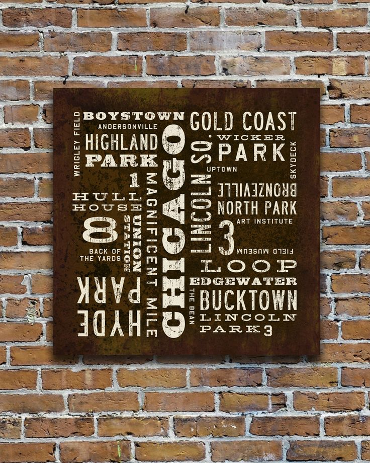 Chicago Neighborhood art. For the living room or apartment!