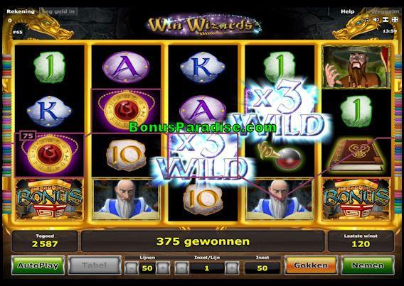 Win Wizards Gokkast