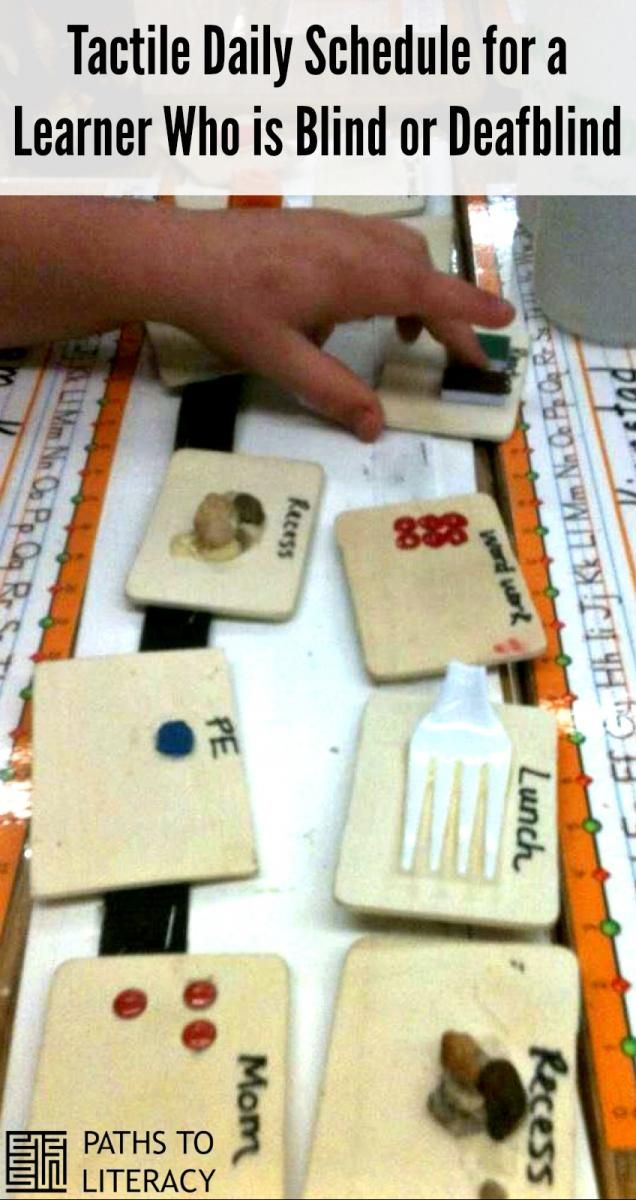 Create a daily tactile schedule for children who are deafblind or visually impaired!