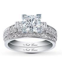 MY rings (sub a cushion cut diamond instead of princess :) )Neil Lane Bridal® 3/4 Ct. tw 2-Piece Diamond Bridal Setting