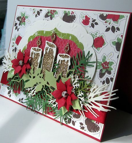 17 best images about cards memory box candles on for Elegant homemade christmas cards