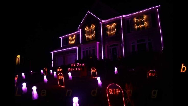 halloween light show sail