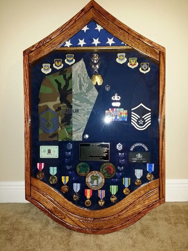 Air Force Shadow Box Retirement Daego Art Crestview FL