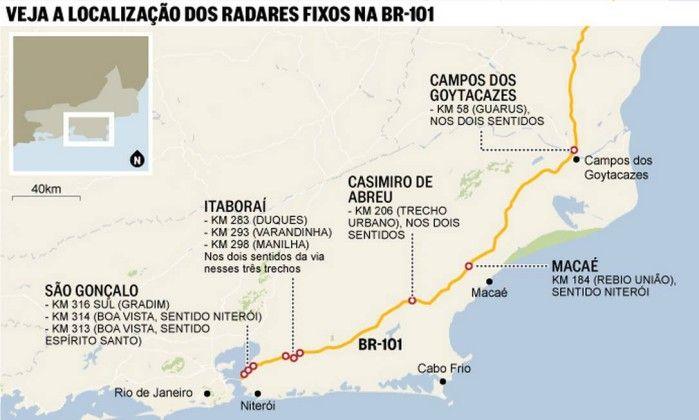 OS RADARES DA BR-101 RJ/NORTE  COMEÇARÃO A MULTAR A PARTIR DAS 00:00 HORAS DO DIA 06/07/2015