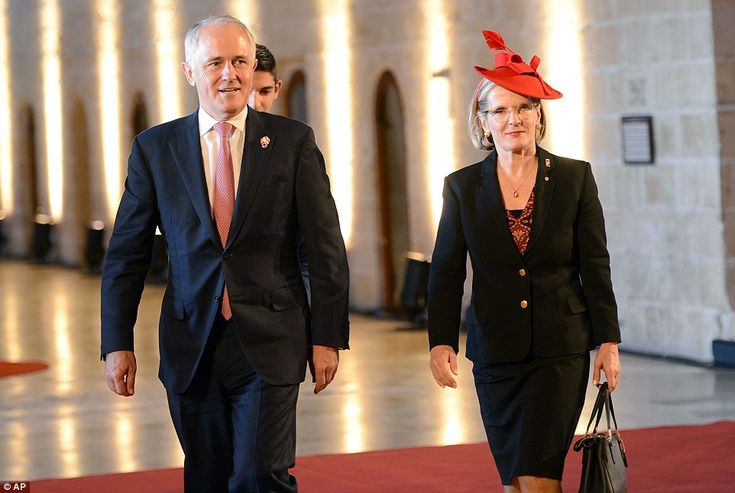 Prime Minister of Australia Malcolm Turnbull and his wife Lucy arrive for the CHOGM, (Comm...