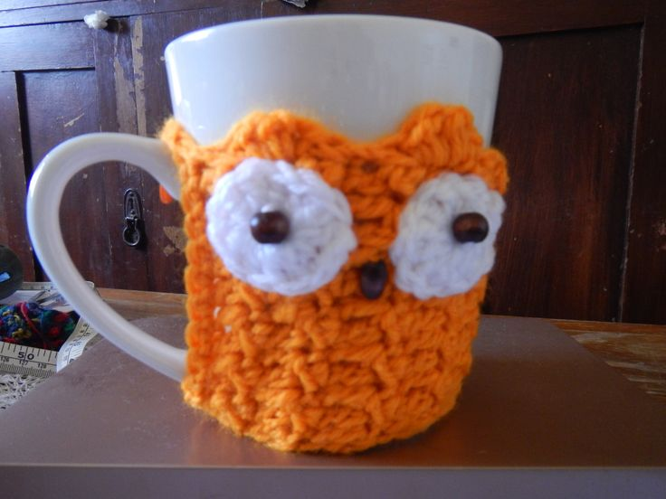 Owl Mug Cosy by WinterSunflower45 on Etsy