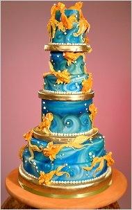 Art Koi Fish cake