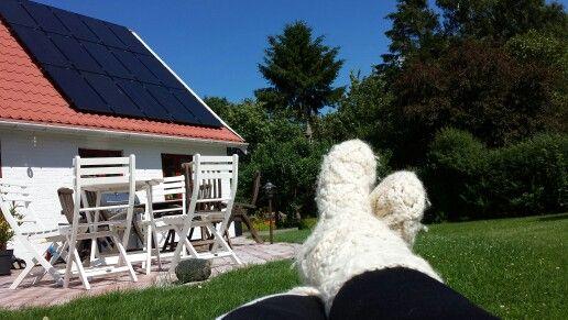 Doras hus i Vestermarie. Lækkert sted.
